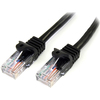 Startech.com 50 Ft Black Cat5e Snagless Utp Patch Cable 45PATCH50BK 00065030786171