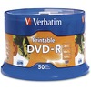 Verbatim Dvd-r 4.7GB 16X White Inkjet Printable With Branded Hub - 50pk Spindle 95137 00023942951377