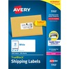 "Avery® Shipping Labels, Sure Feed, 2"" x 4"" 1,000 White Labels (5163) - 2"" Height x 4"" Width - Rectangle - Laser - White - Paper - 10 / Sheet - 100"