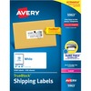 "Avery® TrueBlock Shipping Labels - Sure Feed - Permanent Adhesive - 2"" Width x 4"" Length - Rectangle - Laser, Inkjet - White - 10 / Sheet - 2500 /"