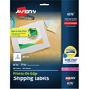 "Avery® Shipping Labels - Sure Feed Technology - Print to the Edge - Permanent Adhesive - 4 3/4"" Width x 7 3/4"" Length - Rectangle - Laser - White"
