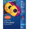 Avery® CD Labels with 80 Spine Labels - Print-to-the-Edge - Permanent Adhesive Length - Round - Inkjet - White - 40 / Pack