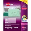"Avery® Clear Shipping Labels, Sure Feed, 2"" x 4"" , 500 Labels (5663) - 2"" Height x 4"" Width - Rectangle - Laser - Clear - Film - 10 / Sheet - 500"