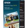 "Epson Inkjet Presentation Paper - 90% Opacity - Letter - 8 1/2"" x 11"" - 27 lb Basis Weight - Matte - 100 / Pack - White"