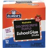 Elmer's Washable Nontoxic Glue Sticks - 0.21 oz - 12 / Box - Purple