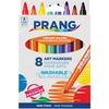 Prang Bullet Tip Washable Master Pack Art Markers - Broad Marker Point - Bullet Marker Point Style - Assorted - White Barrel - 8 / Set