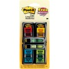 "Post-it® Message Flag Value Pack - 4 Dispensers Plus Two 1/2""W Flags - 248 - 1"" x 1.75"" - Arrow, Rectangle - Unruled - ""SIGN HERE"" - Assorted, Yel"