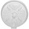 Dart Lift-n-lock Fold Tab Lids - Round - Plastic - 1000 / Carton - White