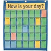 "Pacon Behavioral Pocket Chart - 18.5"" x 9.5"" - 1 Chart - 35 Pockets - 180 Color-Coded Cards"