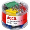 Acco Assorted Size Binder Clips - Reusable, Rust Resistant, Scratch Resistant - 30 / Pack - Assorted - Plastic, Tempered Steel