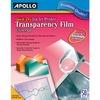 Apollo® Quick Dry Universal Ink Jet Printer Film, Color, 50 Sheets - 50 / Box - Transparent