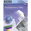 Apollo Laser, Inkjet Transparency Film - 50 / Box - Clear