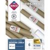 "MACO White Laser/Ink Jet Shipping Label - 3 21/64"" Width x 4"" Length - Rectangle - Laser, Inkjet - White - 6 / Sheet - 600 / Box"