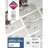 "MACO White Laser/Ink Jet Address Label - 1"" x 2 5/8"" Length - Permanent Adhesive - Rectangle - Laser, Inkjet - White - 30 / Sheet - 3000 / Box"