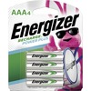 Energizer Recharge Power Plus Rechargeable AAA Batteries, 4 Pack - For Multipurpose - Battery Rechargeable - AAA - 1.2 V DC - Nickel Metal Hydride (Ni