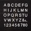 "Quartet Felt Letter BoardCharacter Set - (Letter, Number, Symbol) Shape - Pin-up - Helvetica Style - 1"" Height - White - Plastic - 300 / Set"