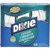 Dixie Heavyweight Disposable Forks, Knives & Spoons Combo Boxes by GP Pro - 168 Piece(s) - 168/Box - Plastic - White