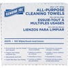 "Genuine Joe All-Purpose Cleaning Towels - 16.50"" x 9.50"" - White - Soft, Reusable, Absorbent, Non-abrasive - 100 Quantity Per Box - 100 / Box"