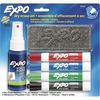 Expo Low-Odor Dry-erase Set - Chisel Marker Point Style - Black, Red, Blue, Green - Black, Red, Blue, Green Barrel - 4 / Set