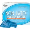 """Alliance Rubber 42649 Non-Latex Rubber Bands with Antimicrobial Protection - Size #64 - 1/4 lb. box contains approx. 95 bands - 3 1/2"""" x 1/4"""" - Cyan b"""