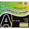 "Pacon Reusable Self-Adhesive Letters - (Uppercase Letters, Number, Punctuation Marks) Shape - Self-adhesive - Acid-free, Fadeless - 4"" Length - Puffy"