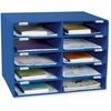 "Classroom Keepers 10-Slot Mailbox - 10 Compartment(s) - Compartment Size 3"" x 12.50"" x 10"" - 16.6"" Height x 21"" Width x 12.9"" Depth - Recycled - Blue"