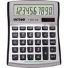 Victor 11003A Mini Desktop Calculator - Large Display, Angled Display, Dual Power, Independent Memory, Environmentally Friendly, Battery Backup - Batt