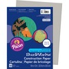 "SunWorks Construction Paper - Painting and Drawing, Charcoal, Crayon, Mounting, Office Project - 0.40"" x 12""9"" - 50 / Pack - Gray - Paper"