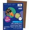 "SunWorks Construction Paper - Art - 0.40"" x 12""9"" - 50 / Pack - Dark Brown - Paper"