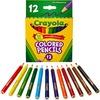 Crayola 12 Color Colored Pencils - 3.3 mm Lead Diameter - Violet Lead - Black Wood, Blue, Green, Brown, Orange, Red, Sky Blue, Violet, Yellow, Red Ora