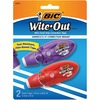 "BIC Wite-Out Mini Correction Tape 2-pack - 0.20"" Width x 19.67 ft Length - 1 Line(s) - White Tape - Micro White Dispenser - Odorless, Flexible Tip, No"
