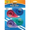BIC Wite-Out EZ Correct Correction Tape - White Tape - 4 / Pack - White