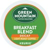 Green Mountain Coffee Roasters Decaffeinated Breakfast Blend - DeCaffeinated - Light/Mild - K-Cup - 24 / Box