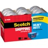 "Scotch Heavy-Duty Shipping/Packaging Tape - 54.60 yd Length x 1.88"" Width - 3.1 mil Thickness - 3"" Core - 18 / Box - Clear"