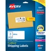"Avery® Shipping Labels, Sure Feed(TM), 2"" x 4"" , 250 Labels (5263) - 2"" Height x 4"" Width - Rectangle - Laser - White - Paper - 10 / Sheet - 250 T"