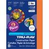 "Tru-Ray Heavyweight Construction Paper - 12"" x 9"" - 50 / Pack - Orange - Sulphite"