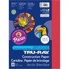 "Tru-Ray Heavyweight Construction Paper - 12"" x 9"" - 50 / Pack - Holiday Red - Sulphite"