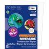 "Riverside Construction Paper - Multipurpose - 12"" x 9"" - 50 / Pack - White - Paper"
