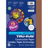 "Tru-Ray Construction Paper - 12"" x 9"" - 50 / Pack - Brown - Sulphite"