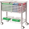 "Vertiflex File Cart with Locking Top - 4 Casters - Steel - x 13.8"" Width x 28.3"" Depth x 29"" Height - Gray - 1 Each"