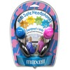 Maxell Kids Safe Headphones - Stereo - Mini-phone (3.5mm) - Wired - 32 Ohm - 14 Hz 20 kHz - Over-the-head - Binaural - Semi-open - 4 ft Cable