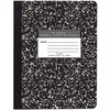 "Roaring Spring Unruled Paper Composition Book - 50 Sheets - 100 Pages - Plain - Sewn/Tapebound - 15 lb Basis Weight - 56 g/m² Grammage - 9 3/4"" x"