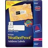 "Avery® WeatherProof Address Labels - Sure Feed - TrueBlock - Permanent Adhesive - 1 21/64"" Width x 4"" Length - Rectangle - Laser - White - Film -"