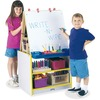 Jonti-Craft Rainbow Accents 2 Station Art Center - Freckled Gray, Yellow Stand - Floor Standing - Assembly Required - 1 Each