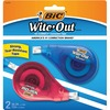 "Wite-Out EZ Correct Correction Tape - 0.17"" Width x 33.14 ft Length - 1 Line(s) - White Tape - Non-refillable - 2 / Pack - White"