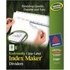 "Avery® Index Maker Index Divider - 8 - 8 Tab(s)/Set - 8.5"" Divider Width x 11"" Divider Length - 3 Hole Punched - White Paper Divider - Paper Tab(s"