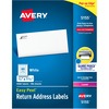 "Avery® Easy Peel Return Address Labels, 2/3""x1-3/4"" 6,000 Labels (5155) - Permanent Adhesive - Rectangle - Laser - White - Paper - 60 / Sheet - 10"