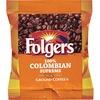 Folgers® 100% Colombian Supreme Ground Coffee Ground - Regular - Dark/Bold - 1.8 oz Per Bag - 42 / Carton