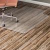"Lorell Hard Floor Wide Lip Vinyl Chairmat - Hard Floor, Wood Floor, Vinyl Floor, Tile Floor - 53"" Length x 45"" Width x 95 mil Thickness - Lip Size 12"""