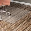 """Lorell Hard Floor 60"""" Rectangular Chairmat - Hard Floor, Wood Floor, Vinyl Floor, Tile Floor - 60"""" Length x 46"""" Width x 95 mil Thickness - Rectangle -"""